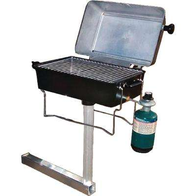 1-Burner Portable Propane Gas Grill With Trailer Hitch Mount in Black