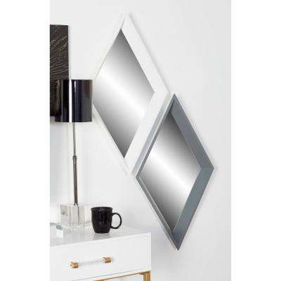 Geometric White Dresser Wall Mirror (Set of 3)