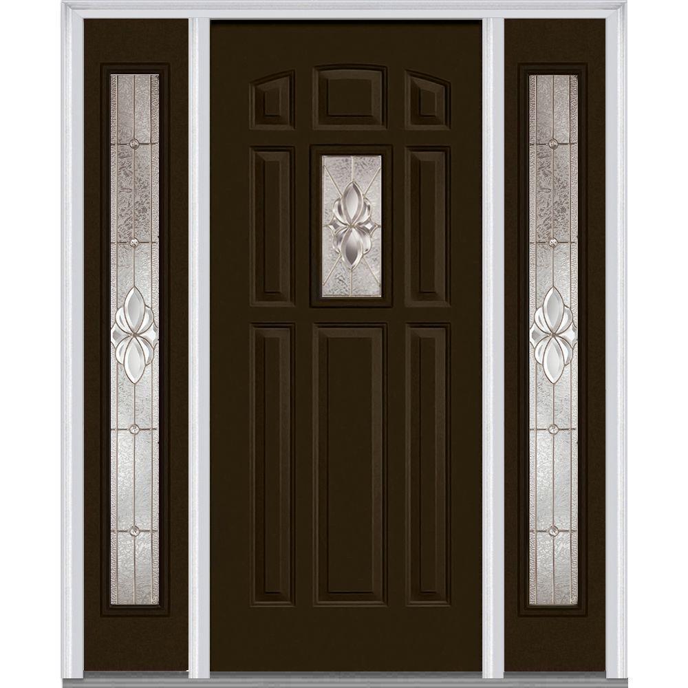 Mmi Door 64 In X 80 In Heirloom Master Left Hand 1 Lite Decorative