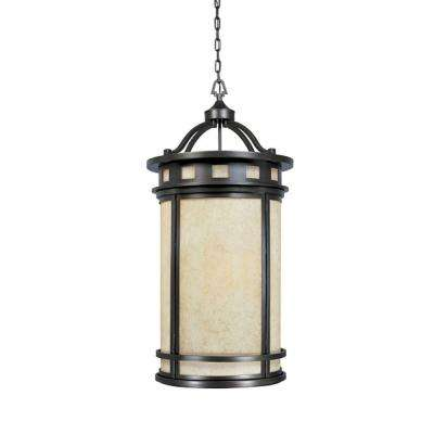 Mesa Collection 4-Light Oil Rubbed Bronze Outdoor Hanging Foyer Light
