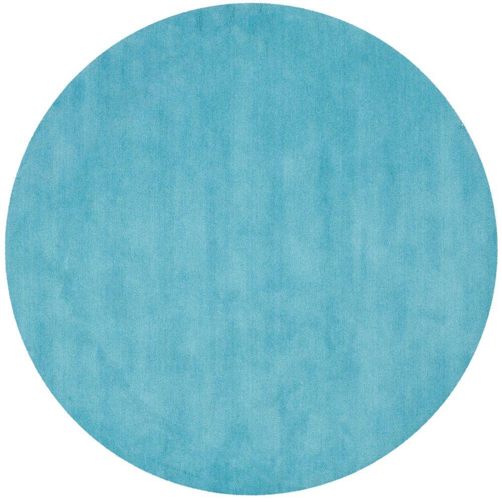 Safavieh Himalaya Turquoise Ivory 4 Ft X 6 Ft Area Rug: Safavieh Vintage Turquoise/Multi 6 Ft. X 6 Ft. Round Area