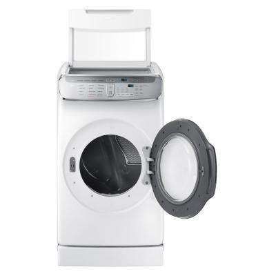 7.5 Total cu. ft. Electric FlexDry Dryer with Steam in White