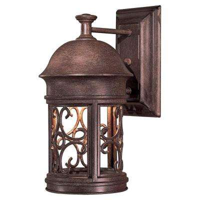 Sage Ridge 1-Light Vintage Rust Outdoor Wall Lantern Sconce