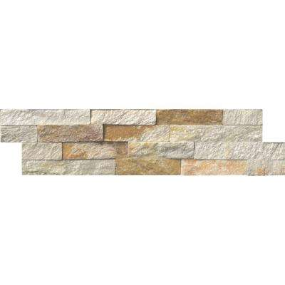 Sparkling Autumn Ledger Panel 6 in. x 24 in. Textured Natural Quartzite Wall Tile (10 cases / 60 sq. ft. / pallet)