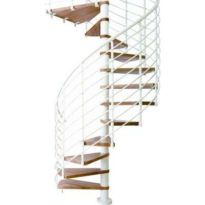 Oslo 63 in. 14-Tread Spiral Staircase Kit