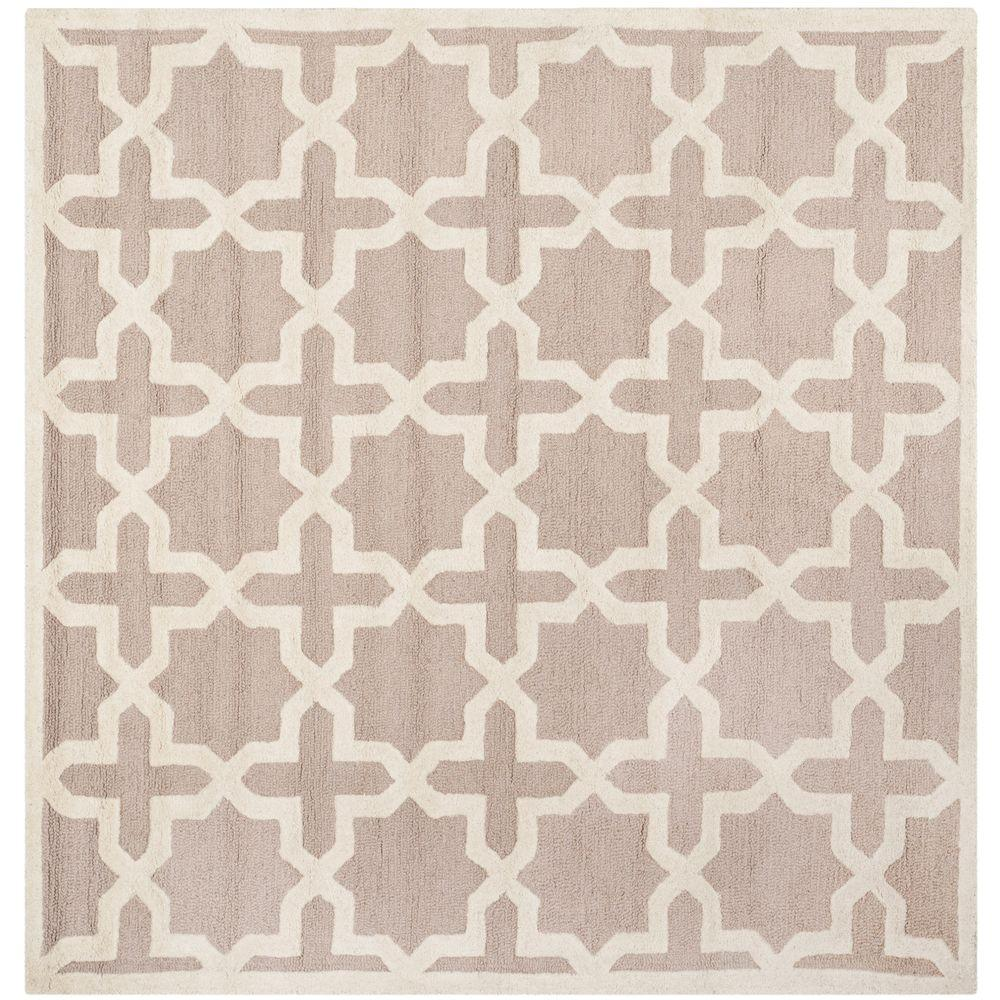 Cambridge Beige/Ivory 10 ft. x 10 ft. Square Area Rug
