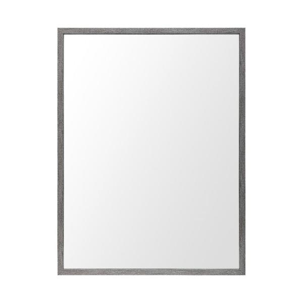 Large Rectangle Grey Modern Mirror (41.5 in. H x 31.5 in. W)