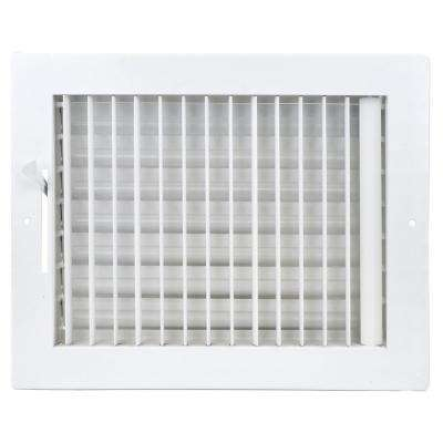 10 in. x 10 in. Adjustable, Single Deflection, 1 Way Air Supply Register for Duct Opening of 10 in. W x 10 in. H