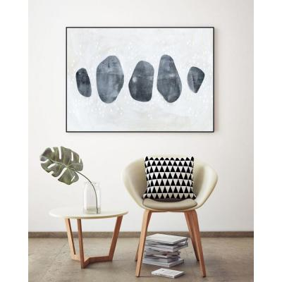 """24 in. x 36 in. """"Stone Collection I"""" by Emma Scarvey Framed Wall Art"""