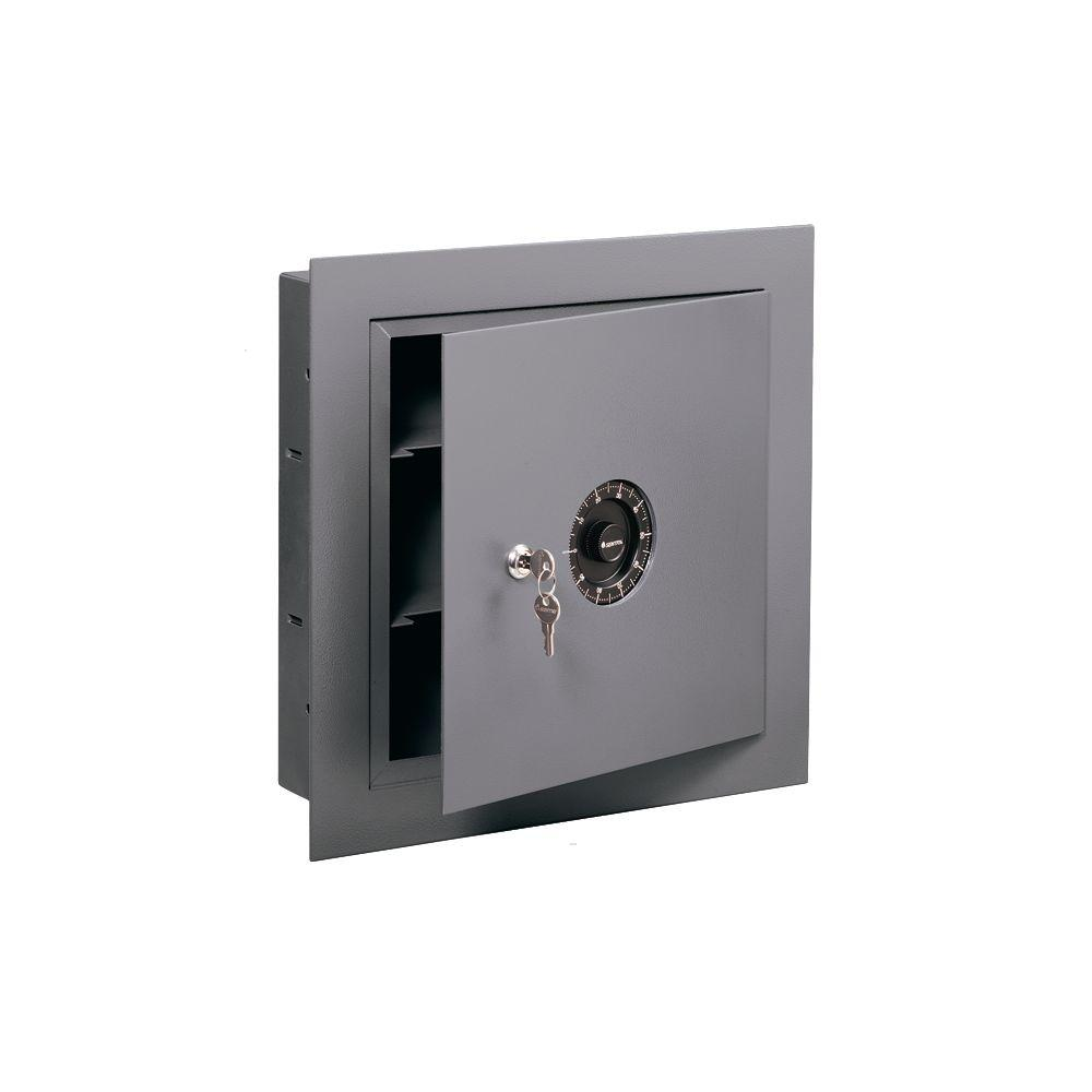 SentrySafe 0.42 cu. ft. All Steel Wall Safe with Combination Lock, Gray