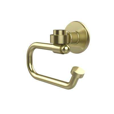 Continental Collection Europen Style Single Post Toilet Paper Holder in Satin Brass