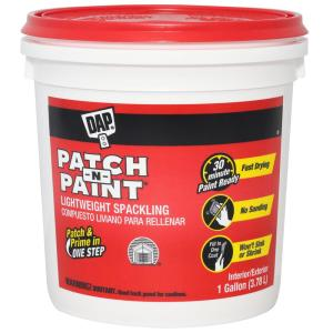 dap patch n paint 1 gal white lightweight spackling 2 pack 7079801517 the home depot. Black Bedroom Furniture Sets. Home Design Ideas