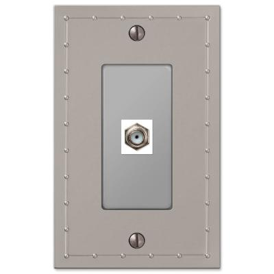 Rosa 1 Gang Coax Metal Wall Plate - Satin Nickel