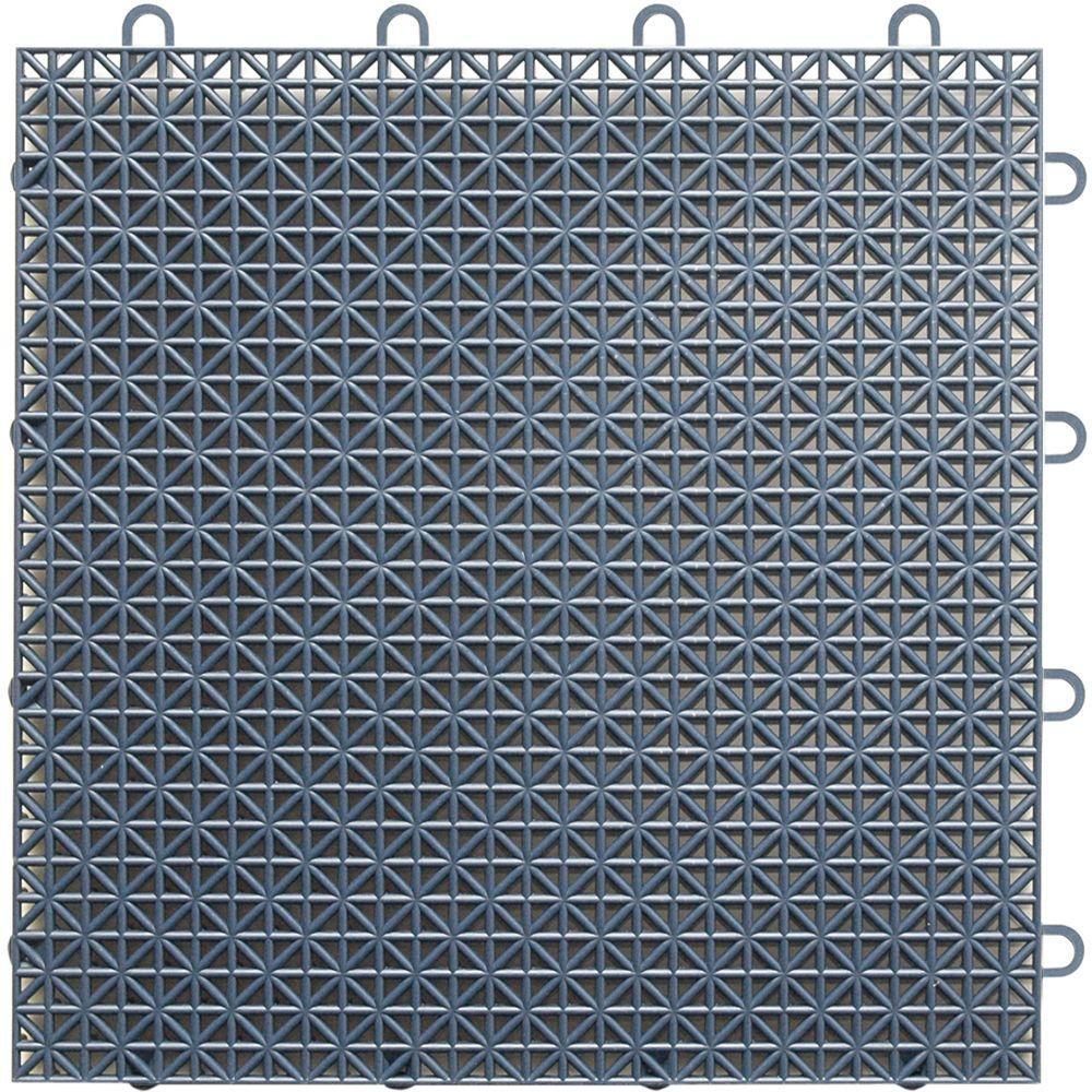 TopDeck 1 ft. x 1 ft. Polypropylene Deck Tile in Gray (40 - Case)