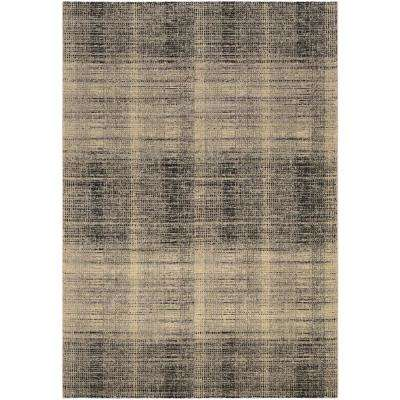 Easton Suffolk Black-Grey 3 ft. 11 in. x 5 ft. 3 in. Area Rug