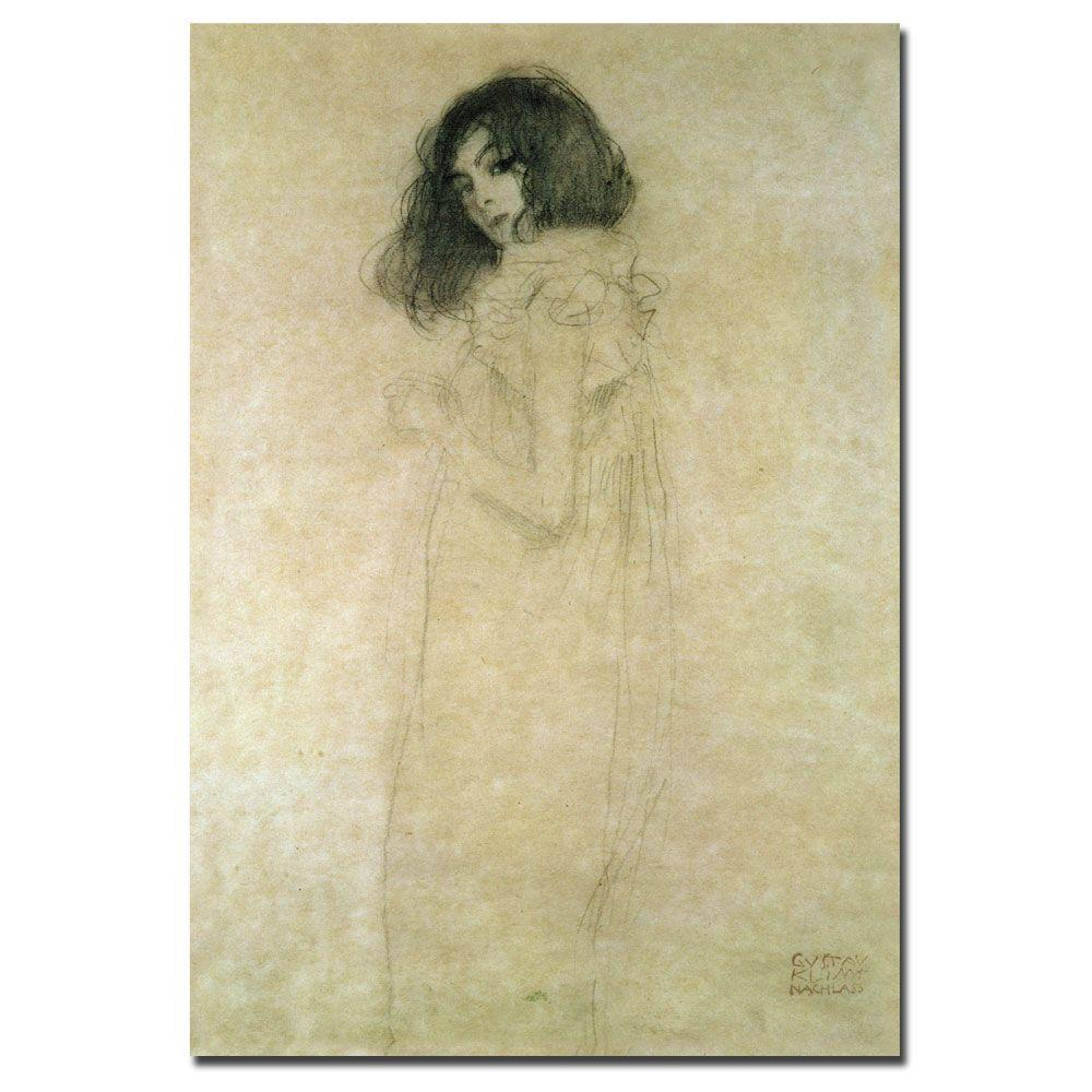 Trademark Fine Art 30 in. x 47 in. Portrait of a Young Woman, 1896-97 Canvas Art