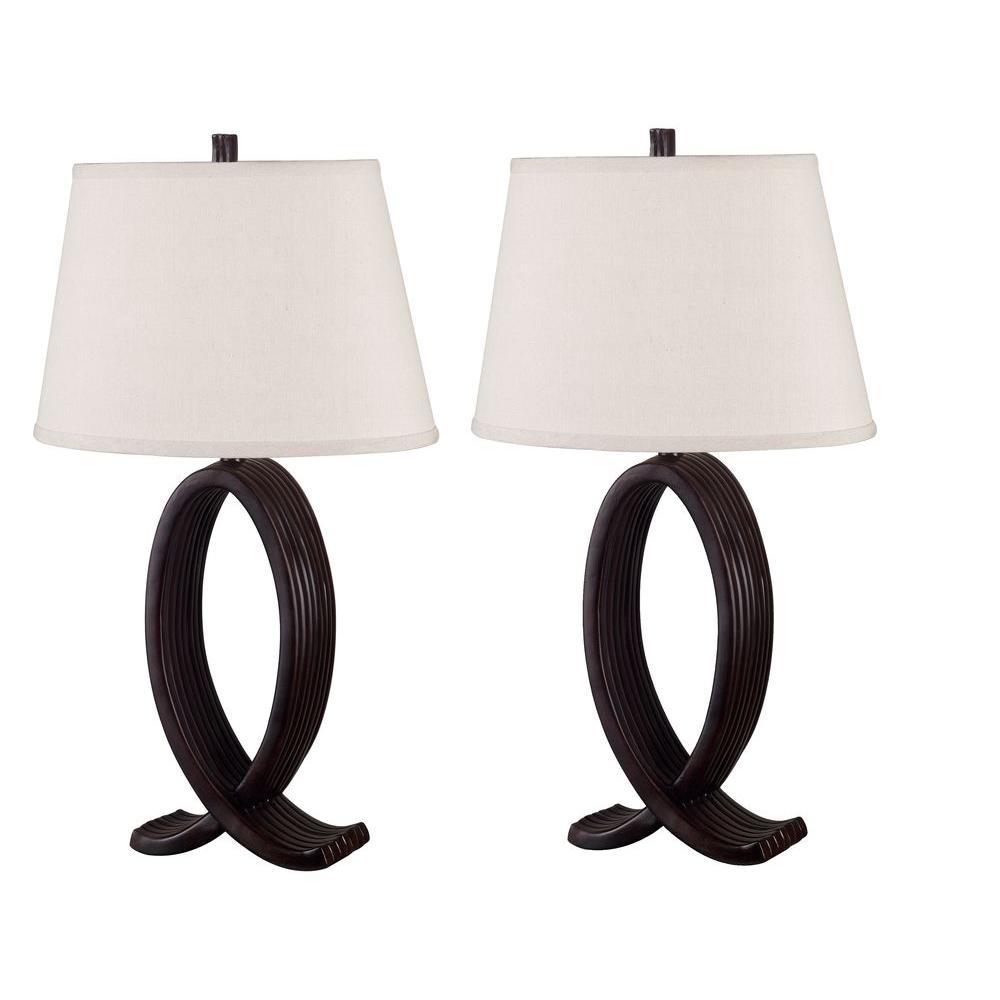 Nemeaux 30 in. Oil-Rubbed Bronze Table Lamp Set (2-Pack)