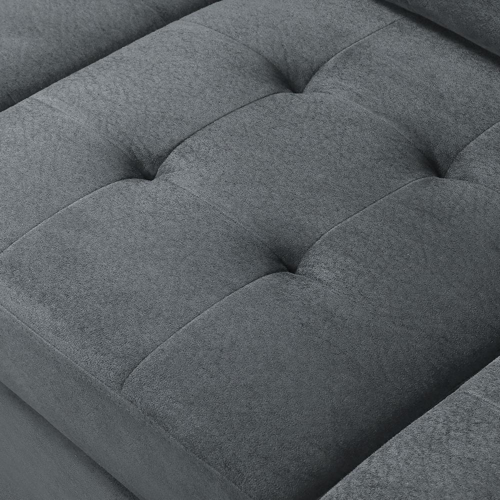 Marvelous Harper Bright Designs Grey 3 Piece Microfiber Sectional Machost Co Dining Chair Design Ideas Machostcouk