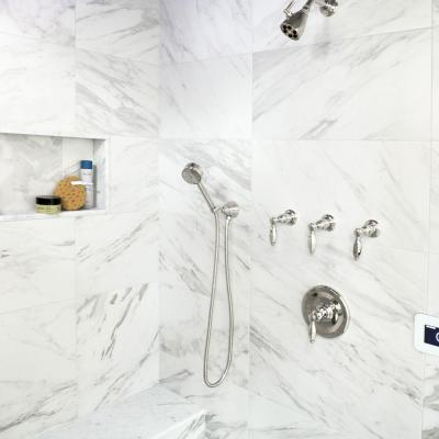 Eterno Carrara 12-7/8 in. x 25-5/8 in. Porcelain Floor and Wall Tile (14.15 sq. ft. / case)