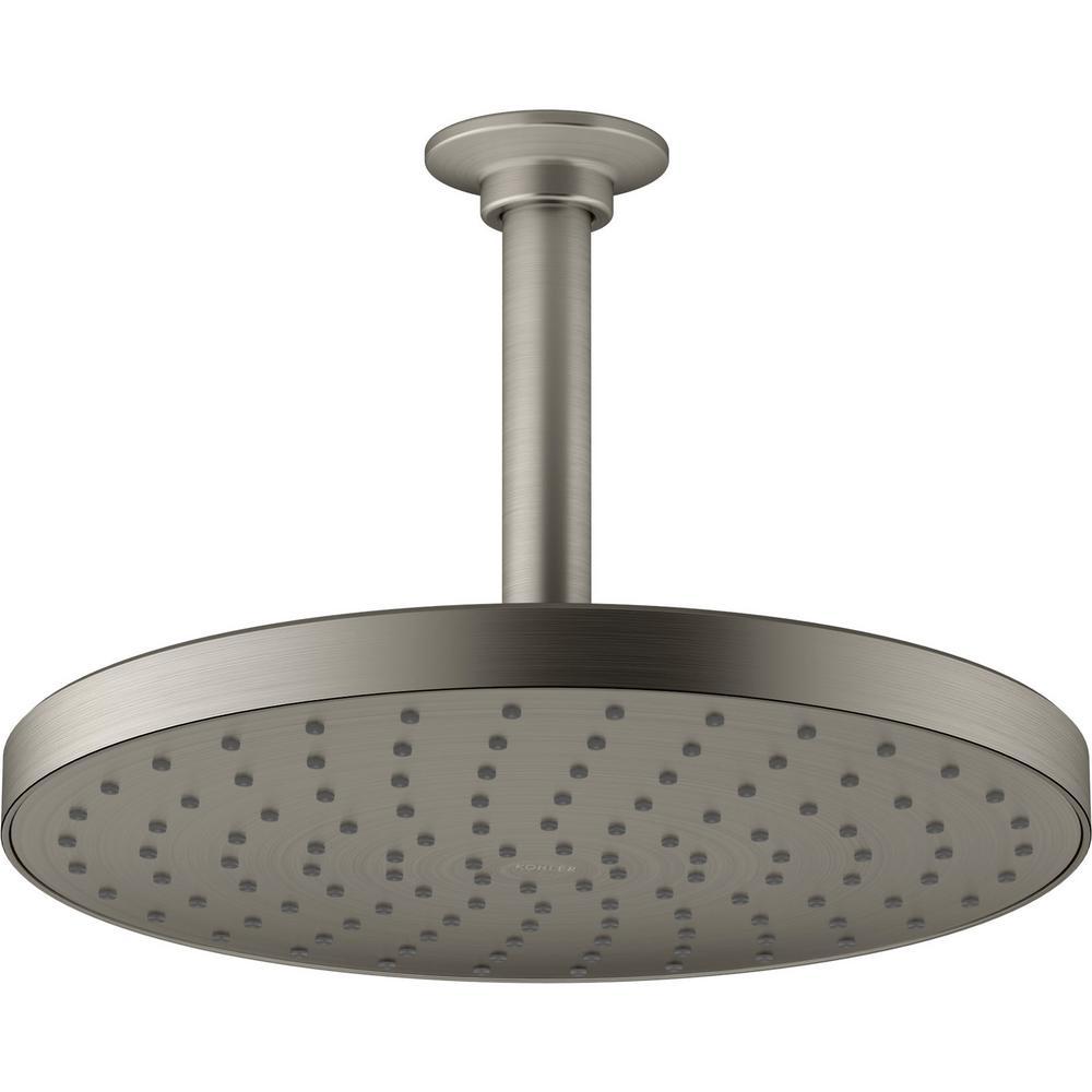 Awaken 1-Spray 9.875 in. Showerhead in Vibrant Brushed Nickel