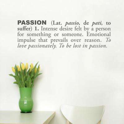 (30 in x 9 in) Passion (english) Wall Decal