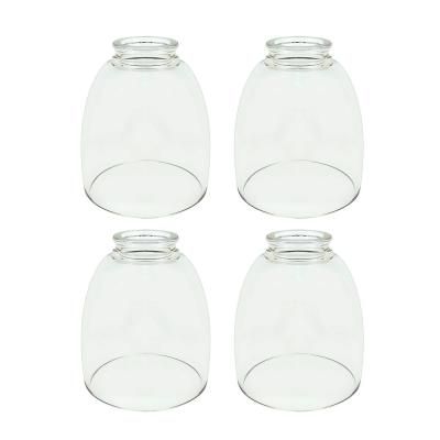5-1/2 in. Clear Ceiling Fan Replacement Glass Shade (4-Pack)