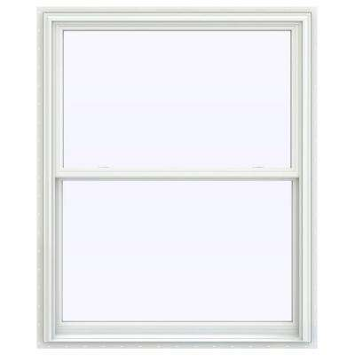 43.5 in. x 59.5 in. V-2500 Series White Vinyl Double Hung Window with BetterVue Mesh Screen