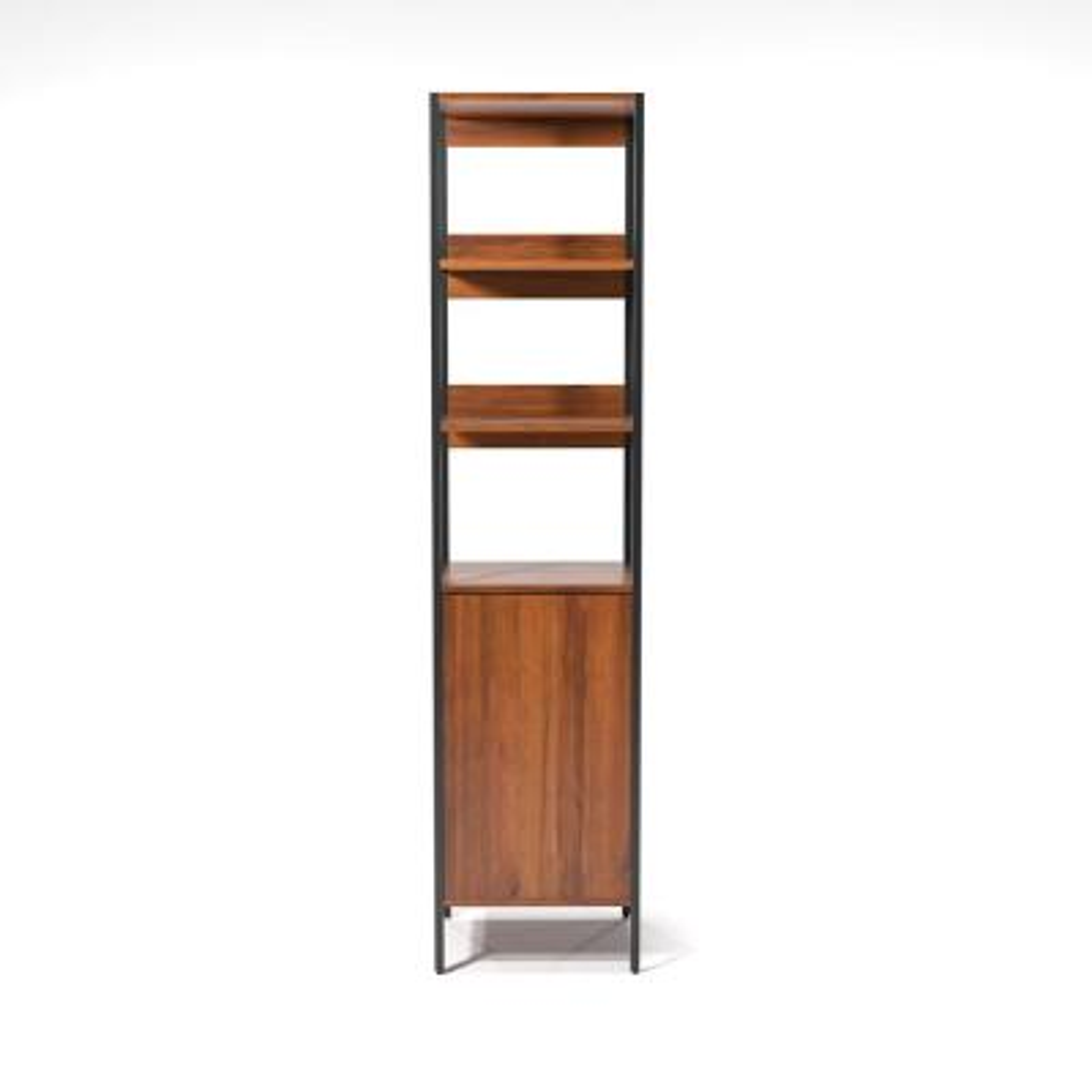 Armand Natural Tone 3-Shelf with Storage Bookcase
