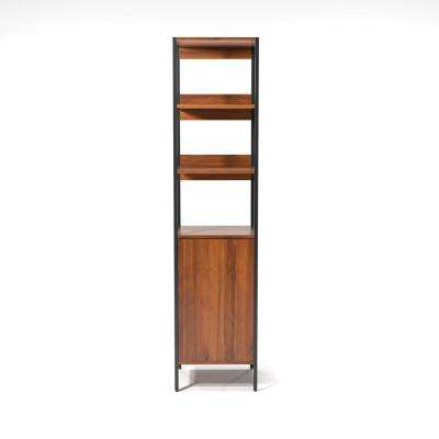 Armand Natural Tone 3-Shelf with Storage Bookcase