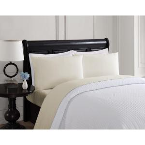 London Fog 4-Piece Solid Taupe Twin Sheet Set by London Fog
