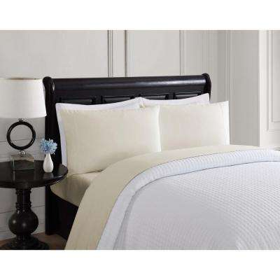 4-Piece Solid Taupe Twin Sheet Set