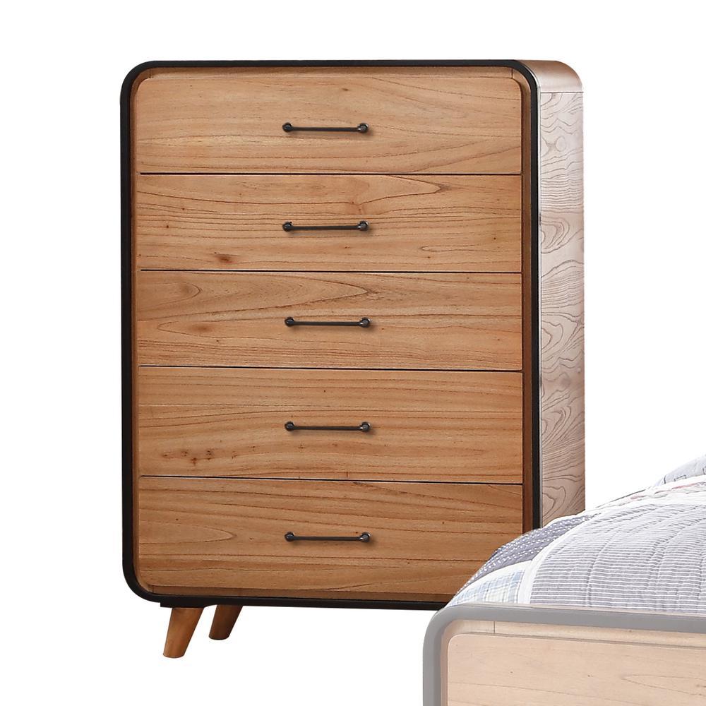 Merveilleux Acme Furniture Carla Oak And Black Chest