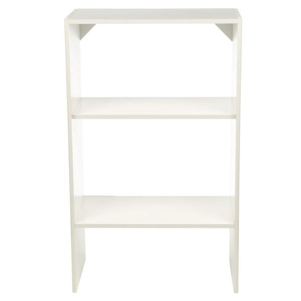 Selectives 25 in. W White Base Organizer for Wood Closet System