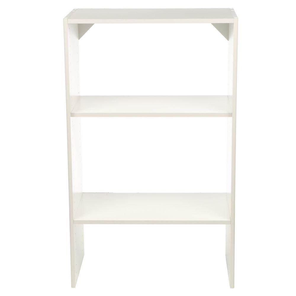 Selectives 14.5 in. x 41.5 in. x 25 in. 3-Shelf White