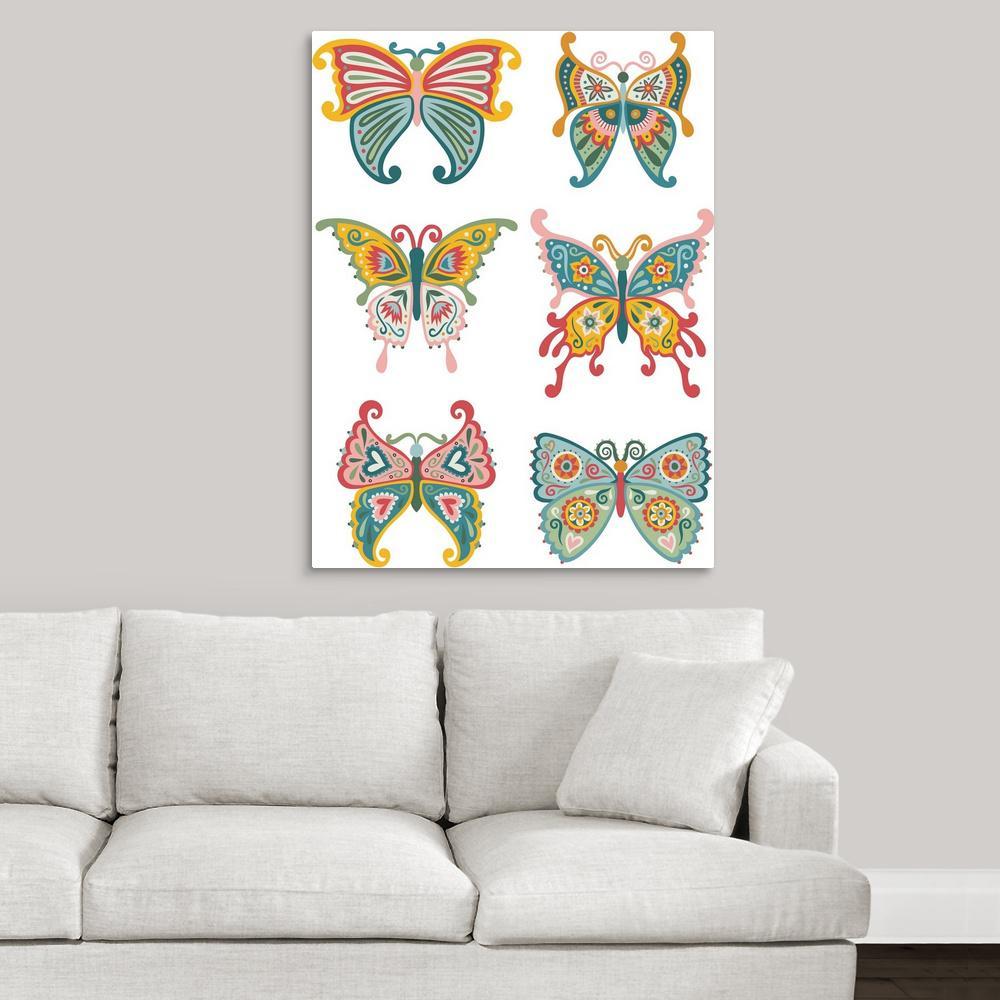 Bugs & Butterflies - Medium (20-40 in.) - Unframed - Canvas Art ...