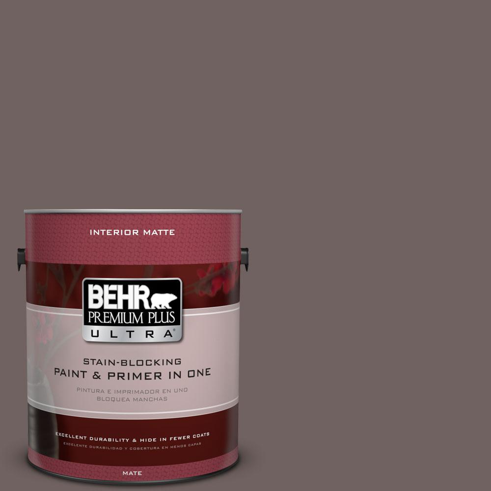 1 gal. #N140-6 Wright Brown Matte Interior Paint