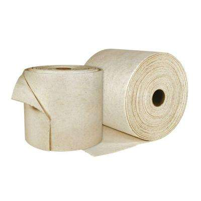 Oil Only Heavy-Duty 14.25 in. x 125 ft. Absorbent Spilt Rolls (2 Rolls per Case)