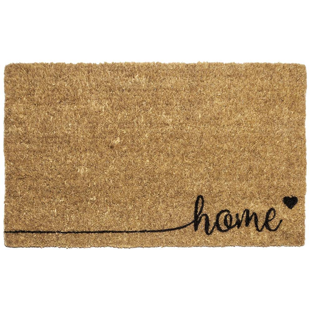 Home 18 in. x 30 in. Hand Woven Coconut Fiber Door Mat