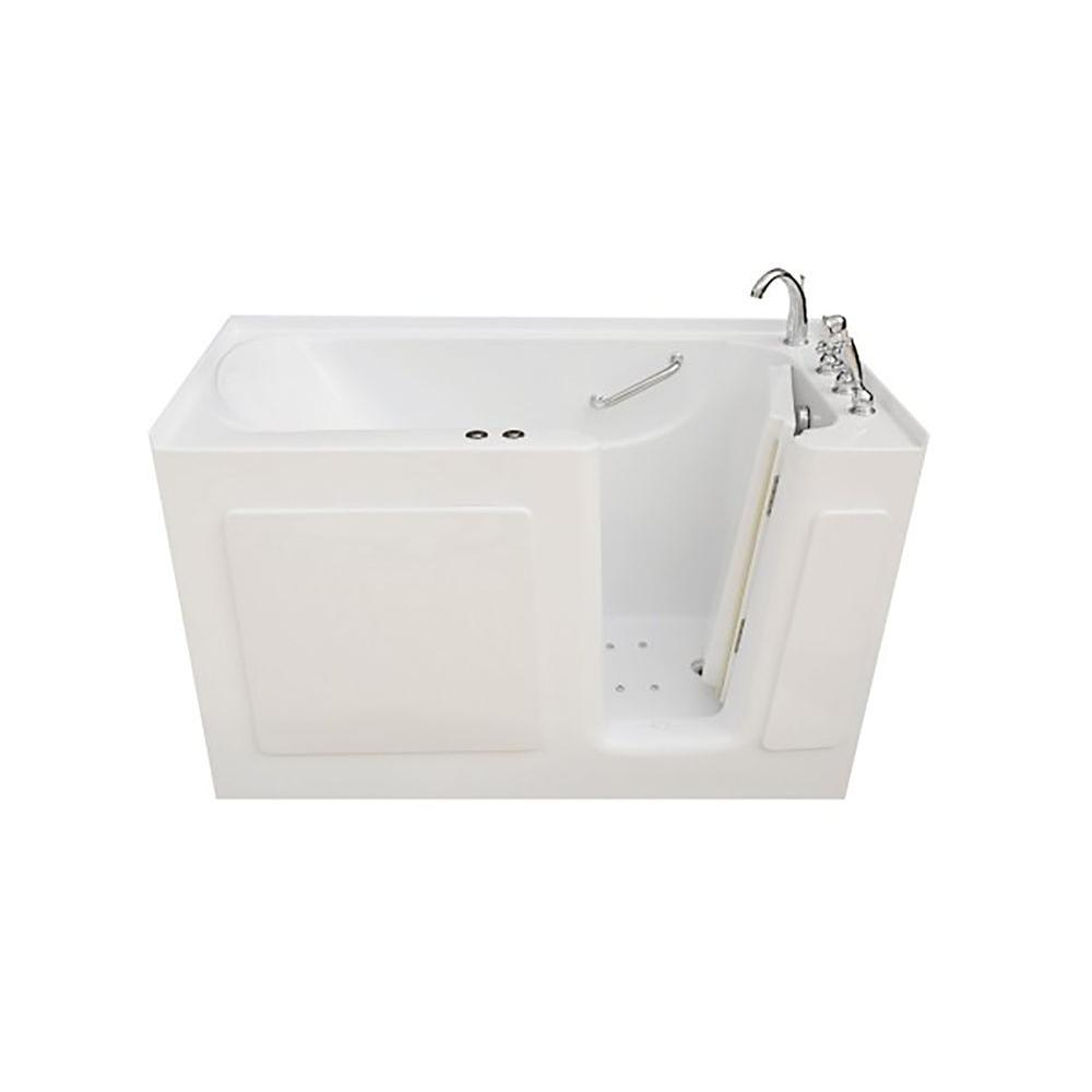 4.5 ft. Right Drain Walk-In Whirlpool and Air Bath Tub in