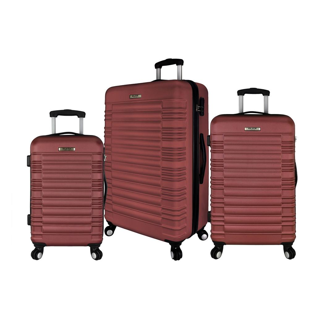 Elite Luggage 3-Piece Hardside Spinner Luggage Set, Red was $349.99 now $209.99 (40.0% off)