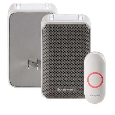 Series 3 Plug-In Door Bell with LED Strobe Alerts and Push Button