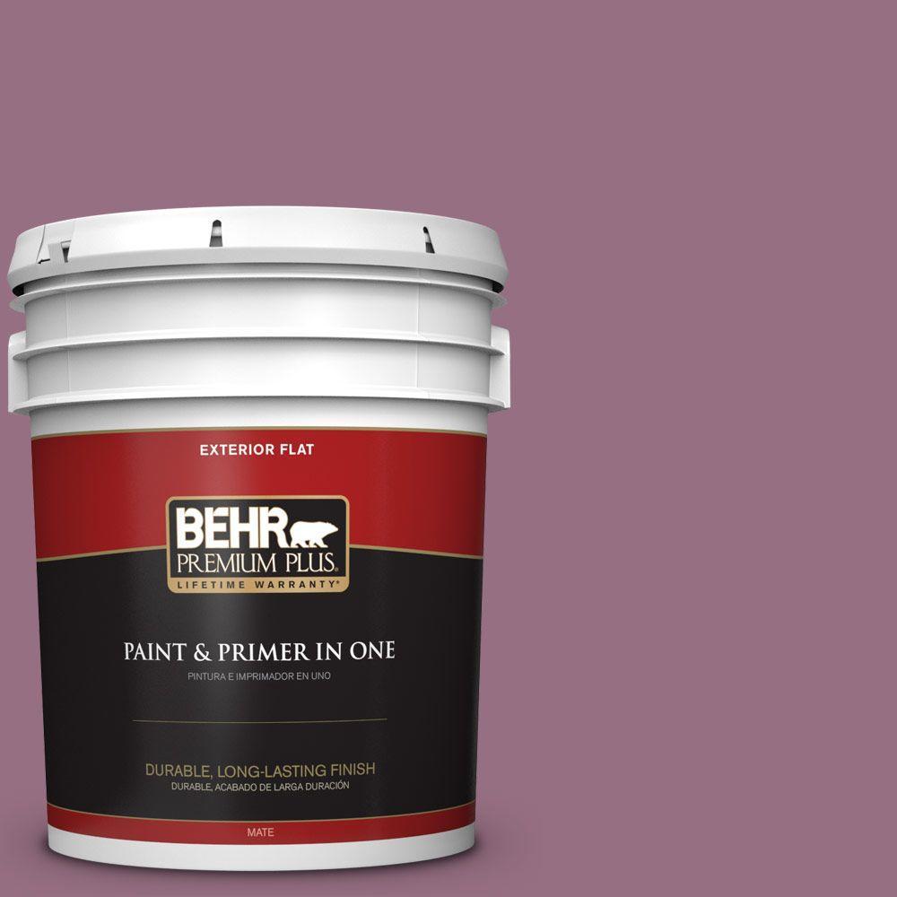 BEHR Premium Plus 5-gal. #690D-6 Meadow Flower Flat Exterior Paint