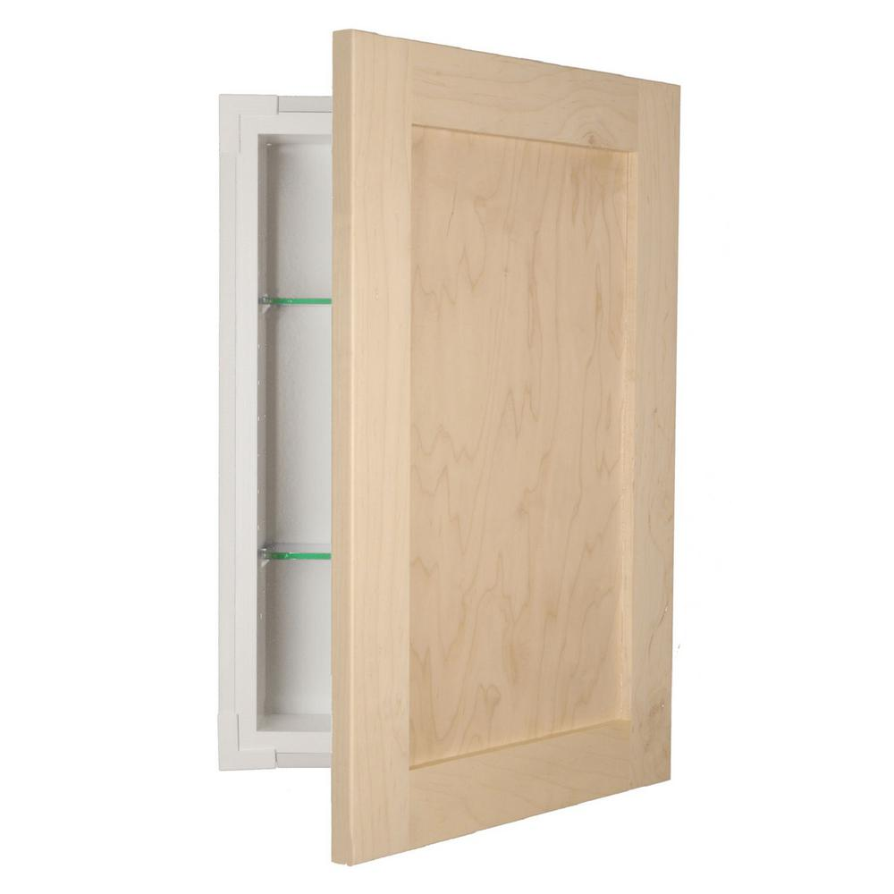 Recessed Medicine Cabinet In Unfinished Fr 218 Unf Door The Home Depot