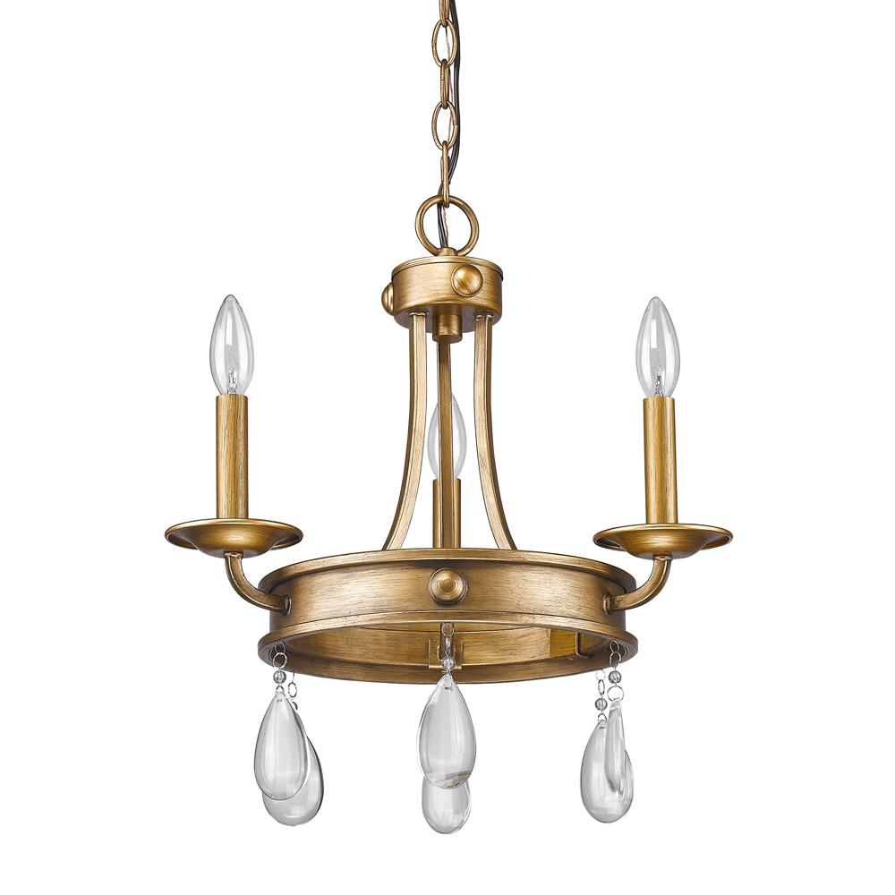 Acclaim lighting krista 3 light indoor antique gold mini chandelier acclaim lighting krista 3 light indoor antique gold mini chandelier with crystal pendants arubaitofo Images