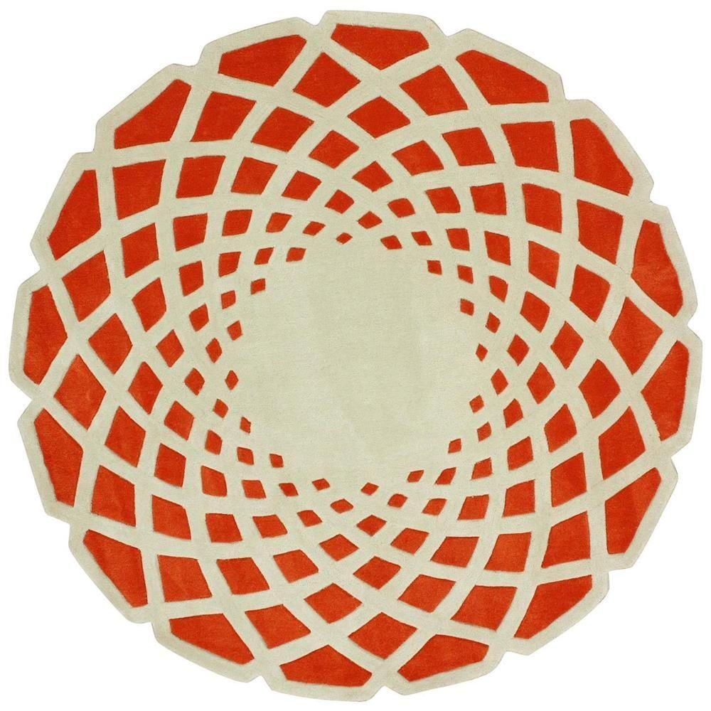 Lumi Orange 6 ft. x 6 ft. Round Area Rug