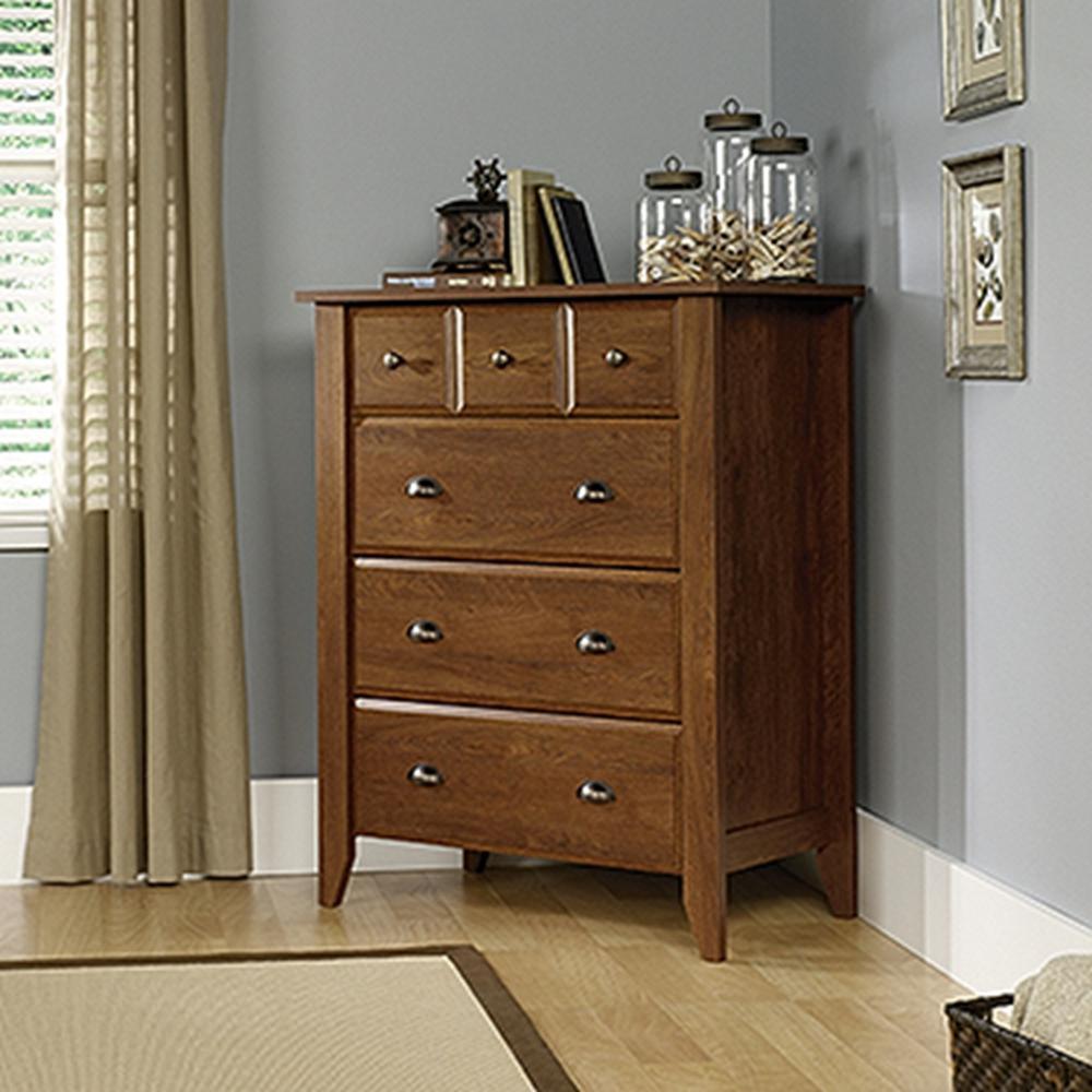 SAUDER Shoal Creek 4-Drawer Oiled Oak Chest-410288 - The Home Depot