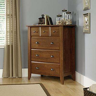 Shoal Creek 4-Drawer Oiled Oak Chest