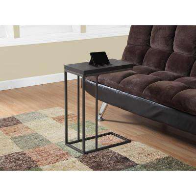 Cappuccino and Bronze Metal End Table