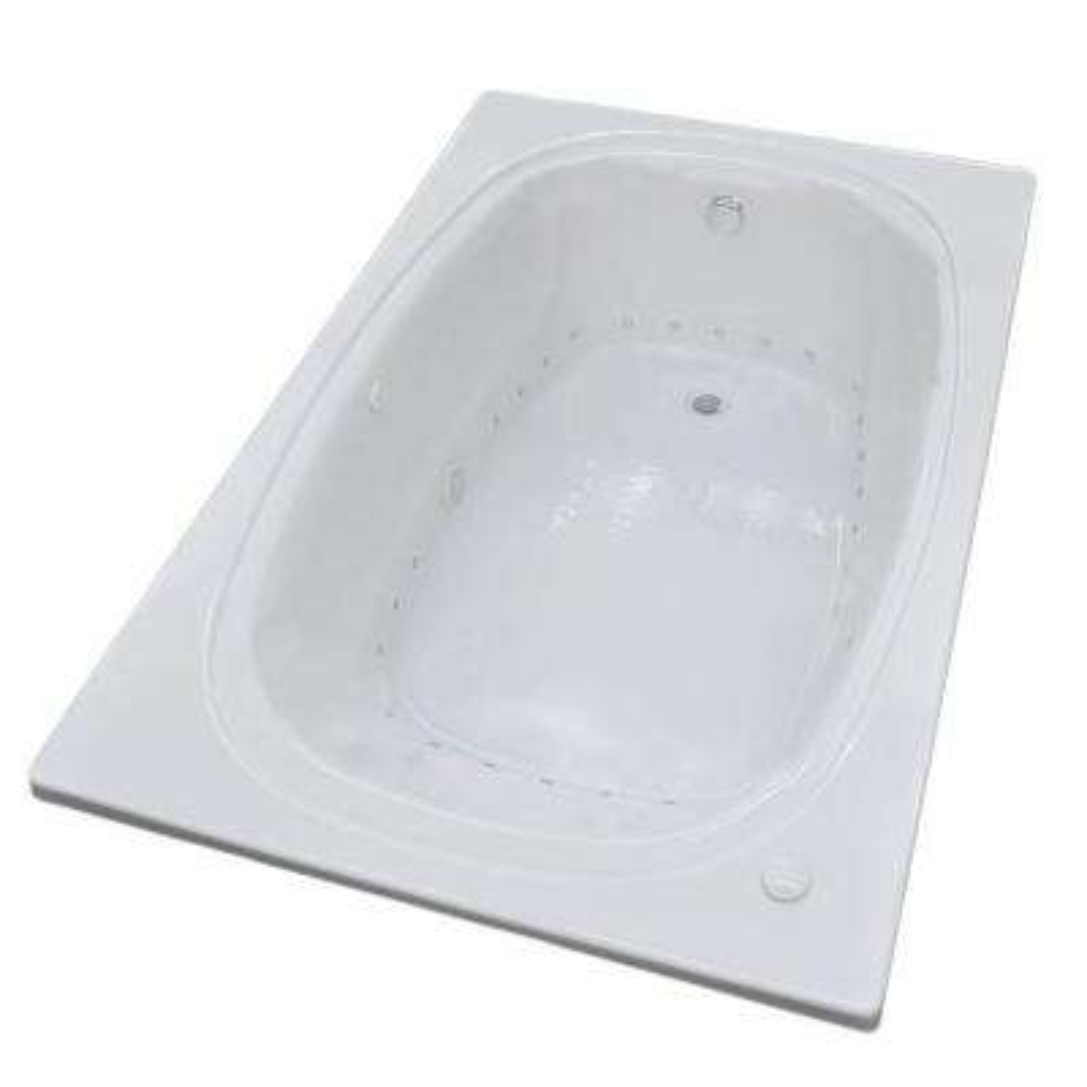 Peridot 6 ft. Acrylic Rectangular Drop-in Whirlpool Air Bathtub in White