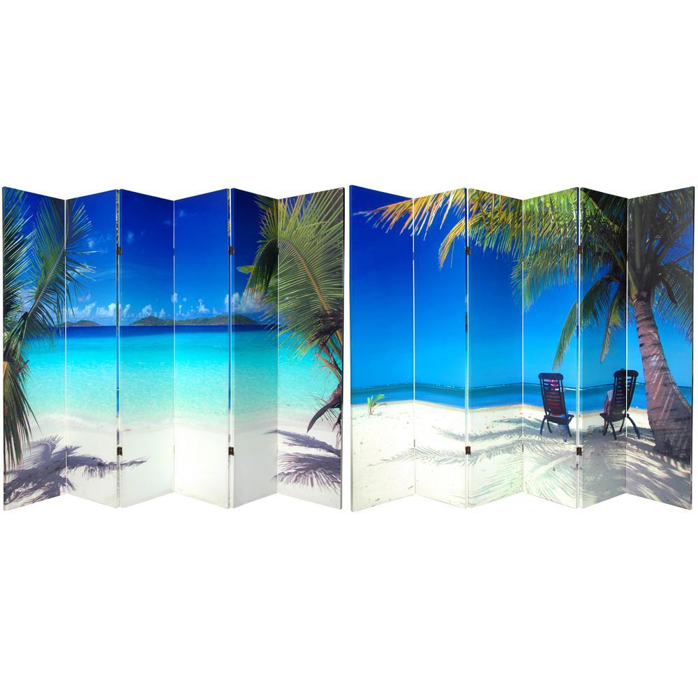 Oriental Furniture 6 ft. Printed 6-Panel Room Divider